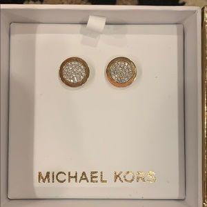 Michael Kors Jewelry - Michael Kors Pave Stud Earrings- NIB